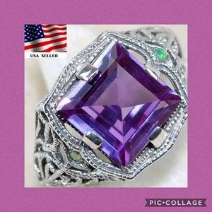 Jewelry - 💜💙COLOR CHANGING ALEXANDRITE➕AUSTRALIAN RING💙💜